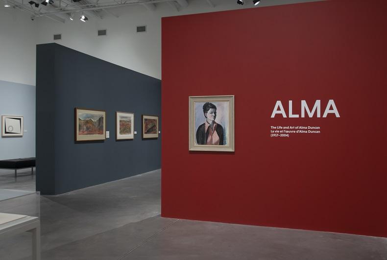 Exhibition shot of Alma