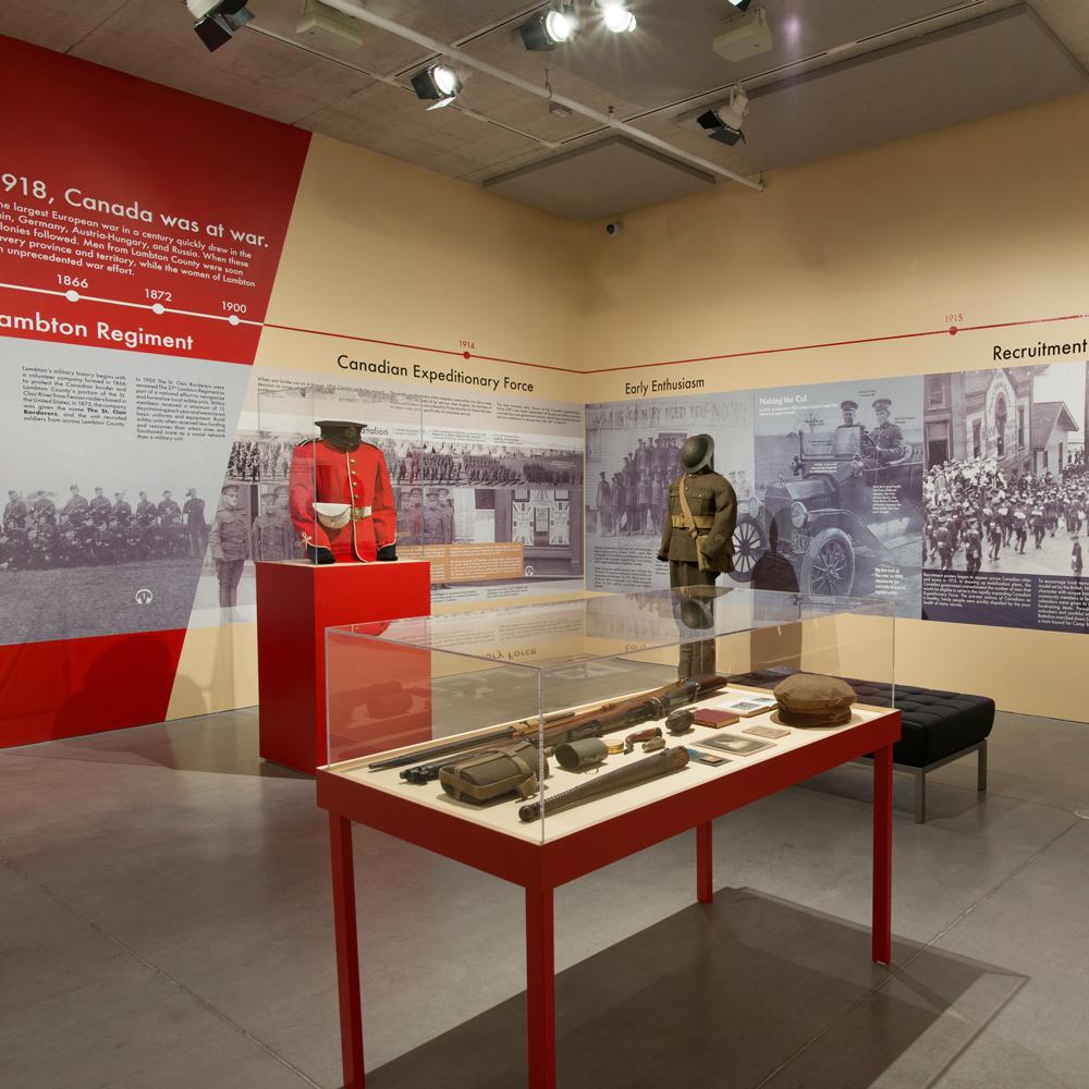 Exhibition shot of Lambton at War