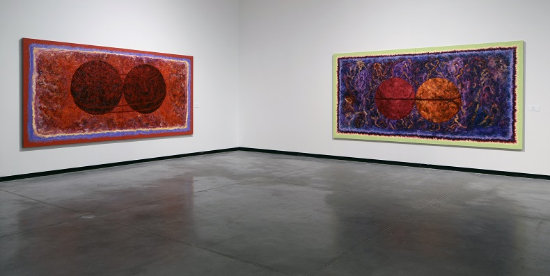 Exhibition shot of Gary Spearin OO paintings