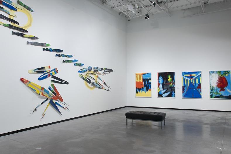 Exhibition shot of Jason Baerg, Returning