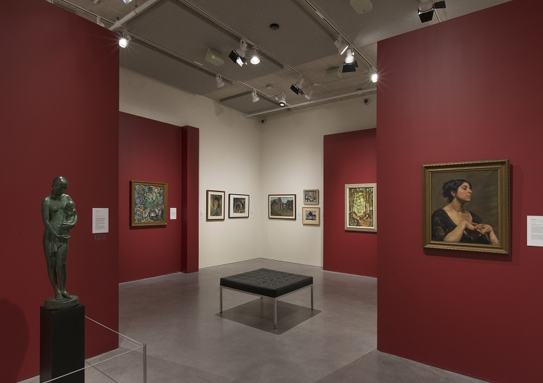 Exhibition shot of Leading the Way: Early Canadian Women Artists