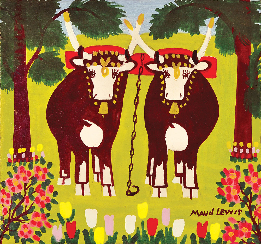 Maud Lewis, Untitled, c. 1996, oil on board