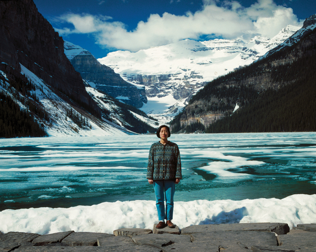 Jin-me Yoon, Souvenirs of the Self (Lake Louise), 1991