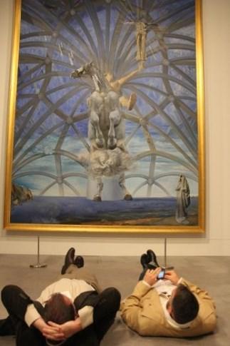 Exhibition shot of Salvador Dali