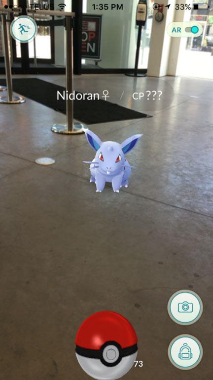 Pokémon in lobby of Judith & Norman Alix Art Gallery