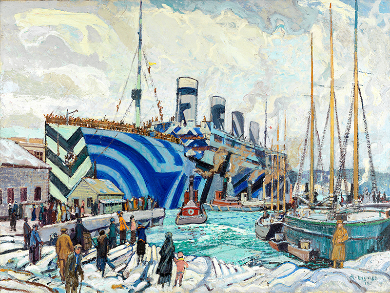Olympic with Returned Soliders by Arthur Lismer