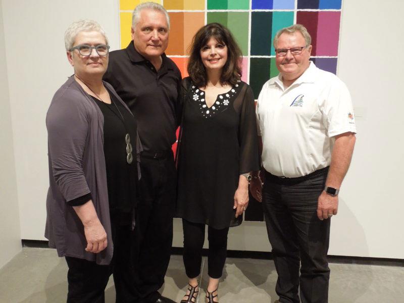 donors John Oravec and Marisa Bernardi with curator, Lisa Daniels