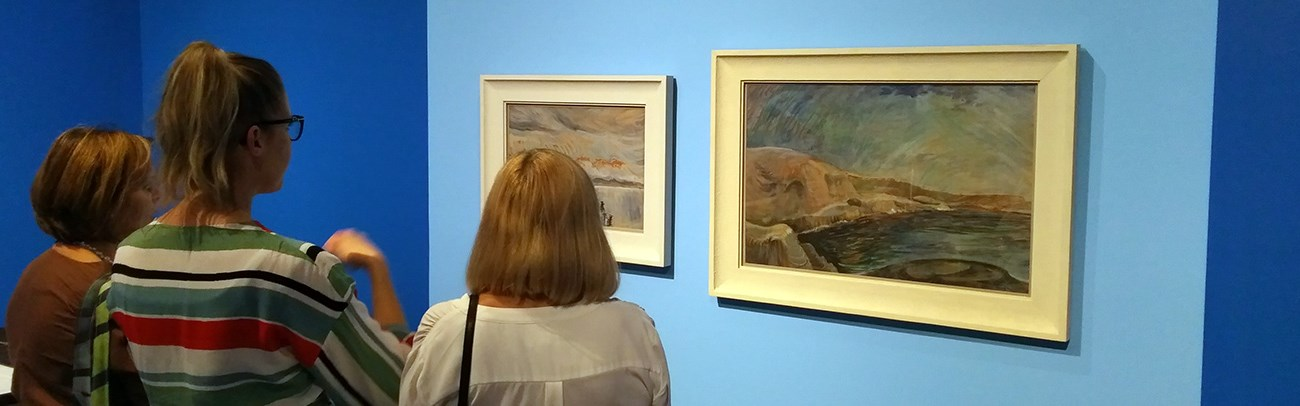 Gallery visitors view the works of Emily Carr on display at Judith & Norman Alix Art Gallery